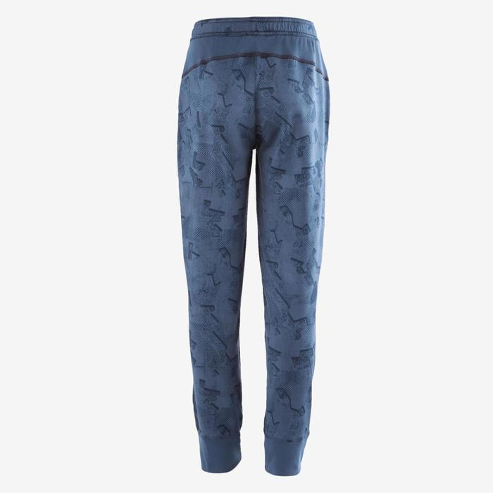 Pantalon S900 Gym garçon imprimé bleu foncé - 1502643