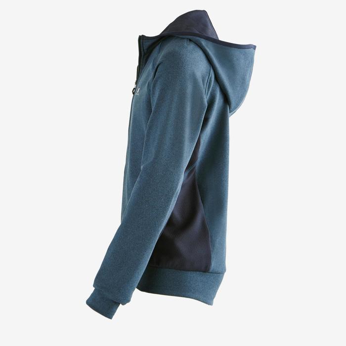 Gym hoodie met rits S900 voor jongens marineblauw
