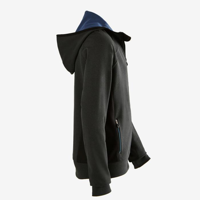 Gym hoodie met rits S900 voor jongens grijs blauw