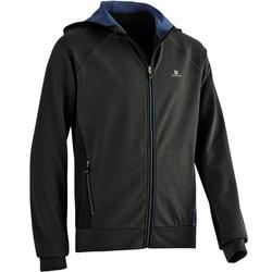 Veste capuche chaude, respirante S900 garçon GYM ENFANT gris chiné foncé