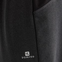 Warme ademende broek slim fit S900 jongens GYM KINDEREN gemêleerd donkergrijs