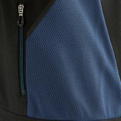 Sudadera Chándal Gimnasia Domyos S900 Con Cremallera Y Capucha Niño Gris Azul