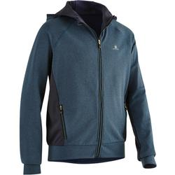 S900 Boys' Hooded Gym Jacket - Navy Blue