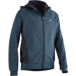 男童健身連帽外套S900 - 海軍藍