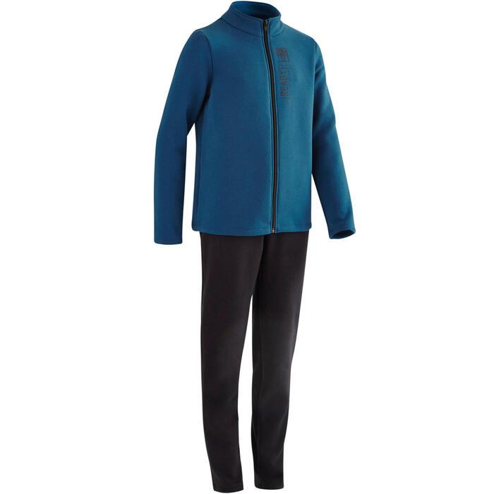 Trainingsanzug 100 Gym Warm'y Kinder blau