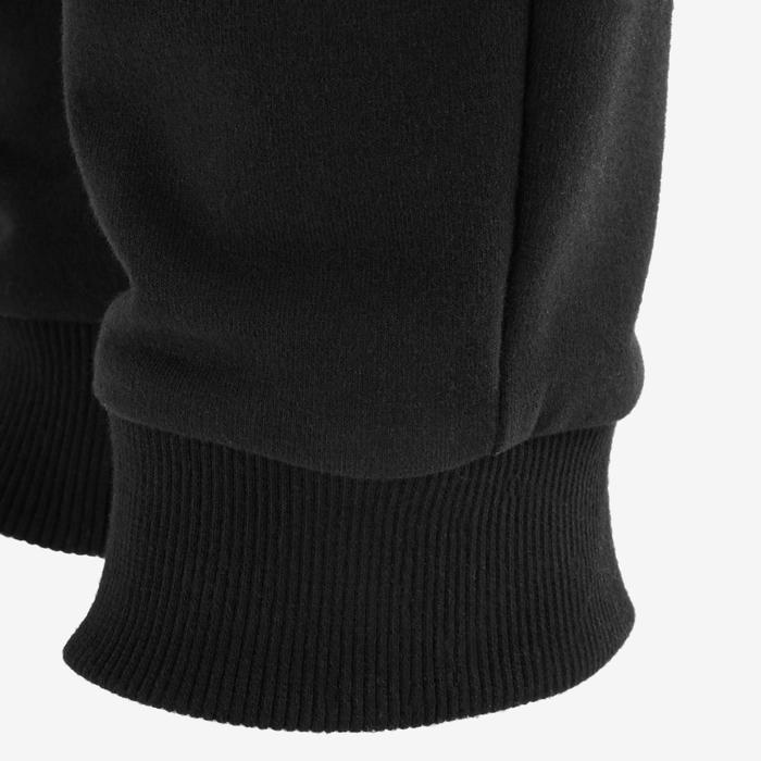 男童健身長褲100 - 黑色