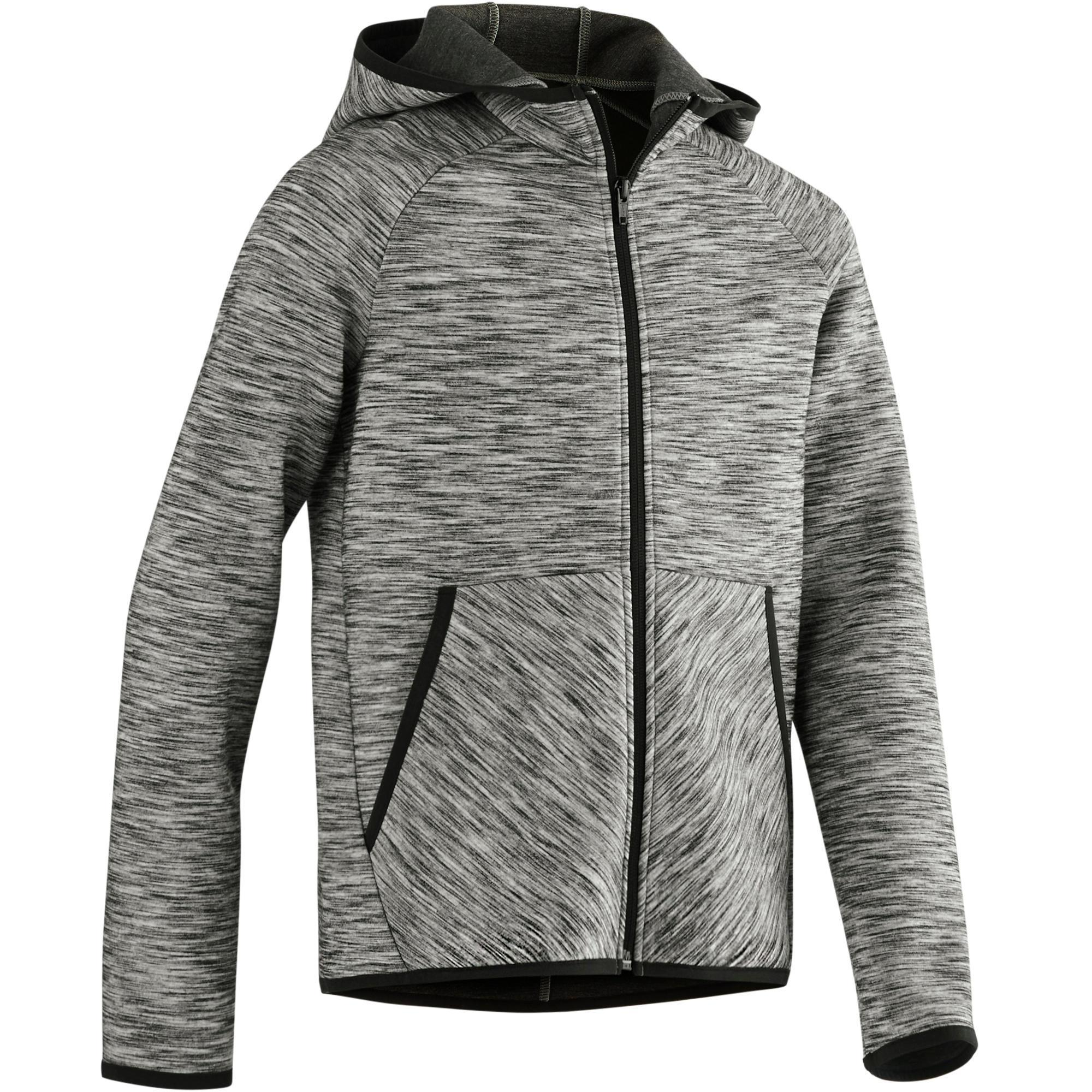 Kapuzenjacke Spacer 500 Gym Kinder grau