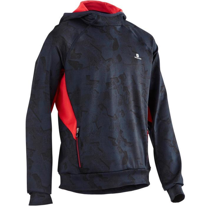 Sweat capuche S900 Gym garçon bleu rouge