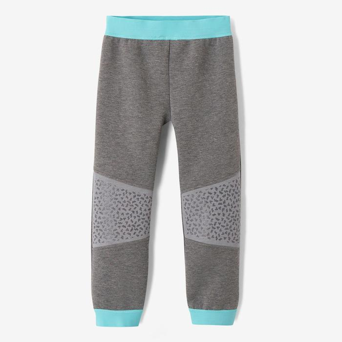 500 Baby Gym Bottoms - Grey/Turquoise