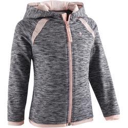 Hoodie met rits S500 voor kleutergym grijs roze
