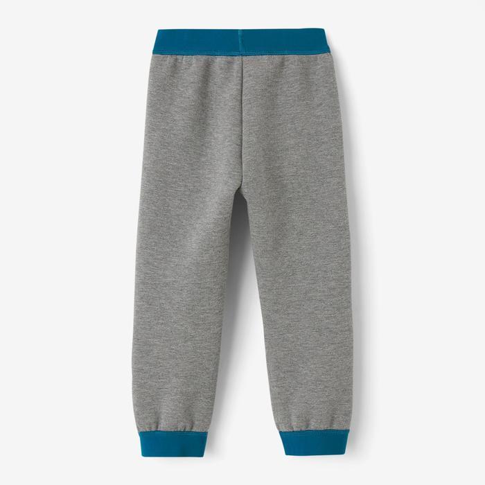Pantalon baby gym 500 Gris foncé/Bleu