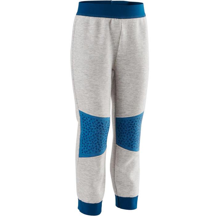 Pantalon 500 baby gym Gris clair/Bleu