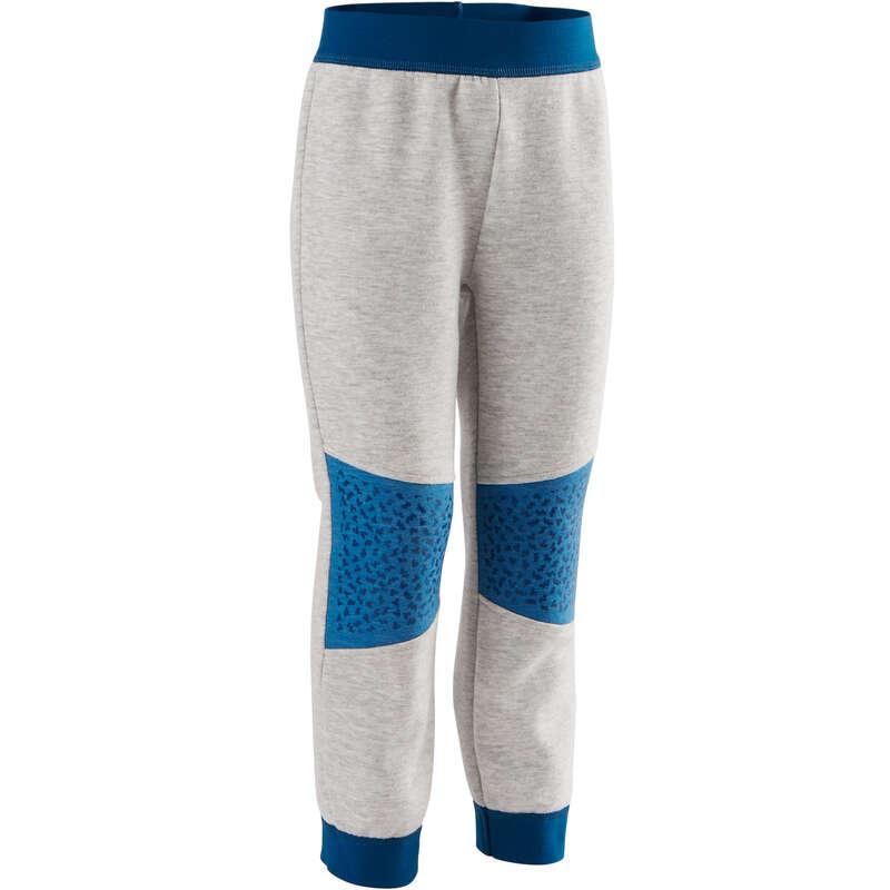 ÎMBRĂCĂMINTE GIMNASTICĂ BEBELUȘI - Pantalon 500 gri/albastru DOMYOS