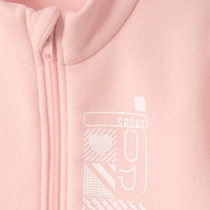 Joggingpak 100 voor kleutergym roze print Warm'y Zip