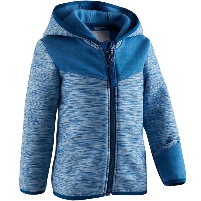 Veste spacer capuche 500 Baby Gym bleu - 1502771