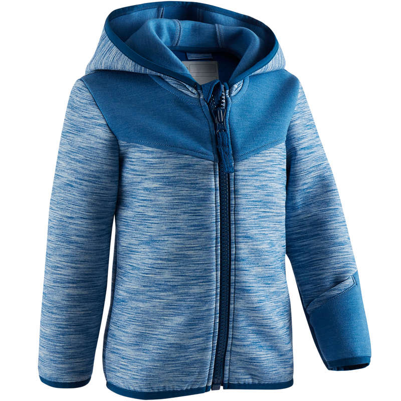 BABY GYM APPAREL Baby and Toddlers - 500 Jacket - Blue DOMYOS - Kids