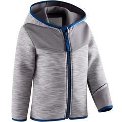 Hoodie spacer 500 voor kleutergym grijs blauw