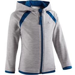 Vest met capuchon S500 voor kleutergym lichtgrijs