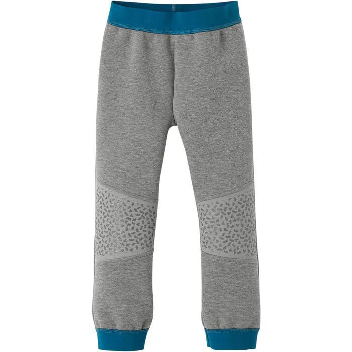Jogginghose 500 Babyturnen dunkelgrau/blau