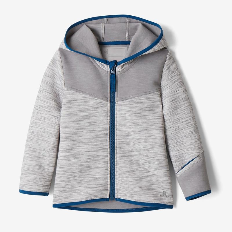 competitive price 4fa7e f6245 Abbigliamento baby - Felpa baby gym 500 grigio-azzurro