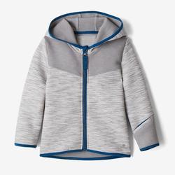 Vest 500 kleutergym grijs/blauw