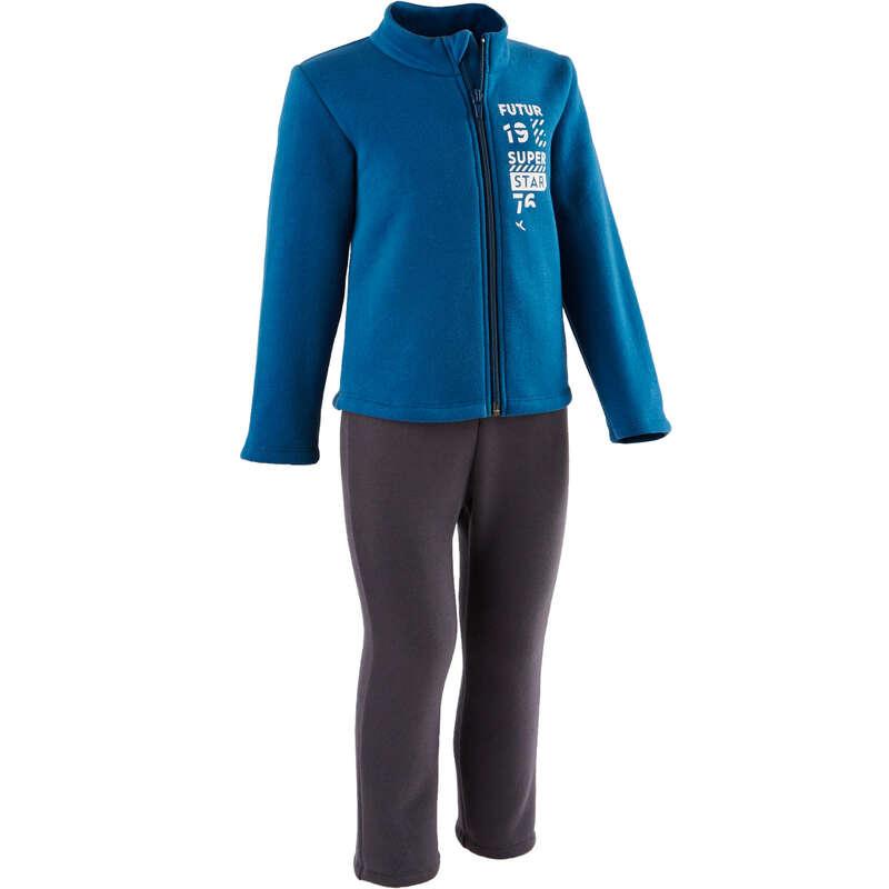 OBLEČENÍ CVIČENÍ PRO NEJMENŠÍ Cvičení pro děti - SPORTOVNÍ SOUPRAVA 100 WARM'Y  DOMYOS - Oblečení pro děti od 1 do 6 let