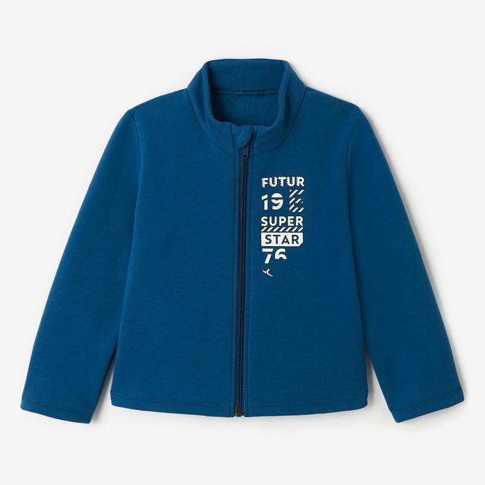 Trainingsanzug Warm'y Zip 100 Babyturnen blau