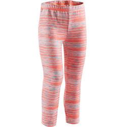 Warme legging S500 voor kleutergym roze met print
