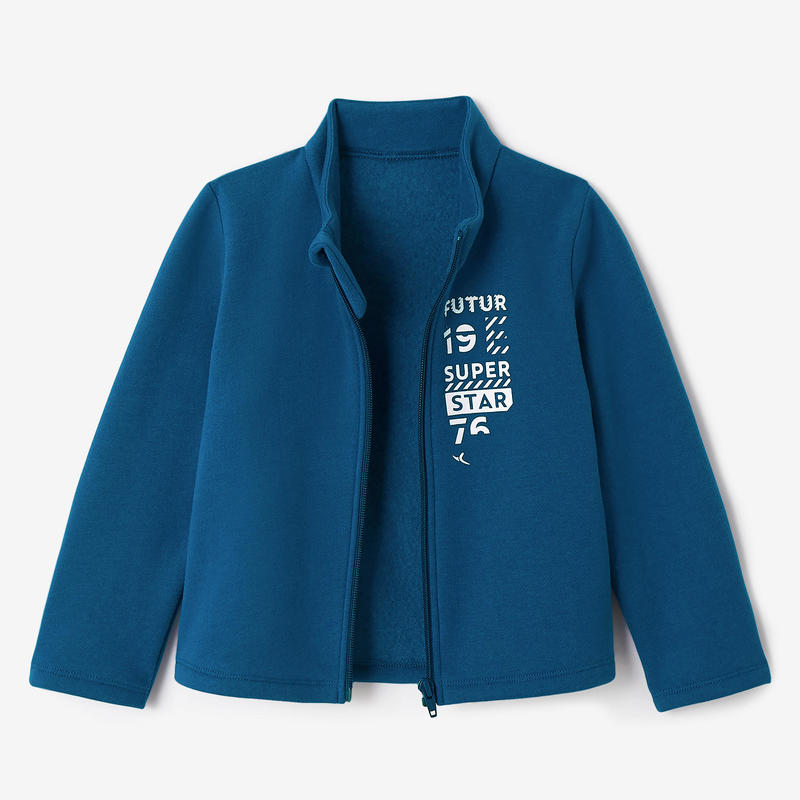 Buzo Warm'y Zip Gimnasia Infantil 100 azul