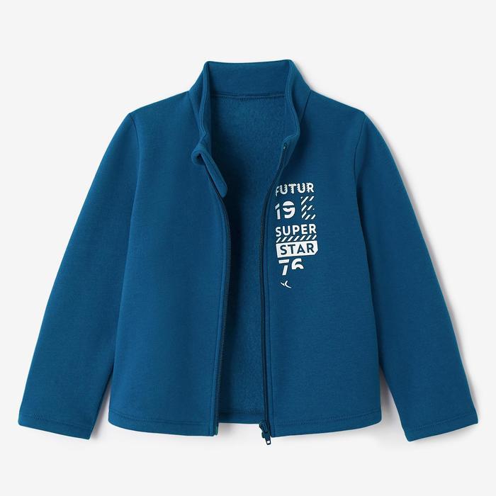 Chándal De Gimnasia Infantil Domyos Azul Estampado Warm'y Zip