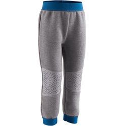 Pantalón gimnasia infantil 500 gris oscuro/azul