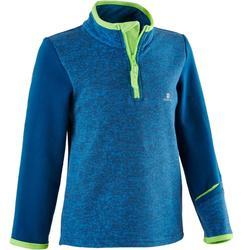 嬰幼兒健身拉鍊運動衫500 - 藍色/綠色