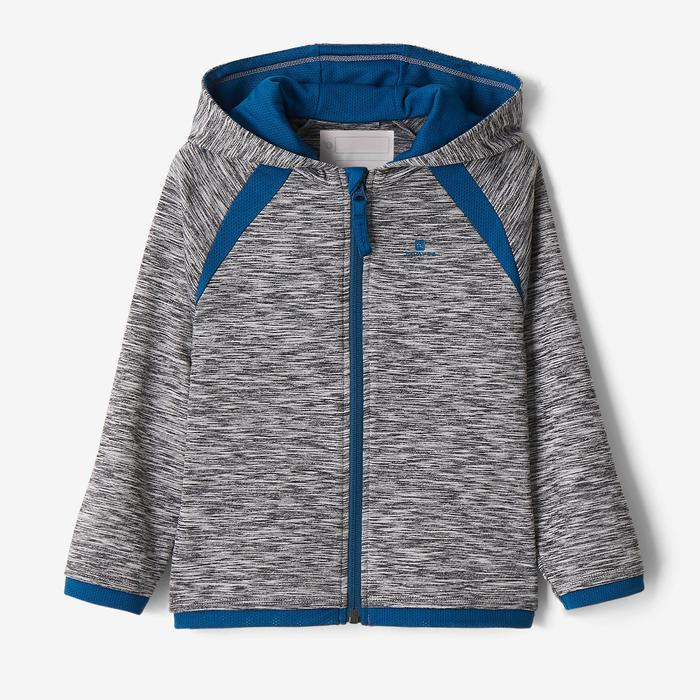 Vest met capuchon S500 voor kleutergym donkergrijs