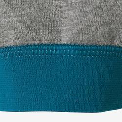 Broek 500 kleutergym donkergrijs/blauw