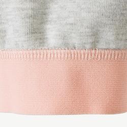 Pantalon baby gym 500 Gris/Rose