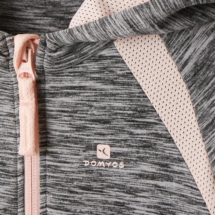 Hoodie S500 voor peuter- en kleutergym grijs/roze