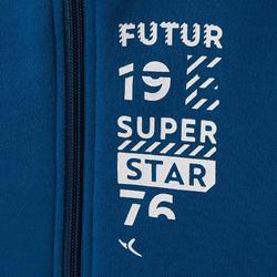Joggingpak 100 voor kleutergym Warm'y Zip blauw met opdruk