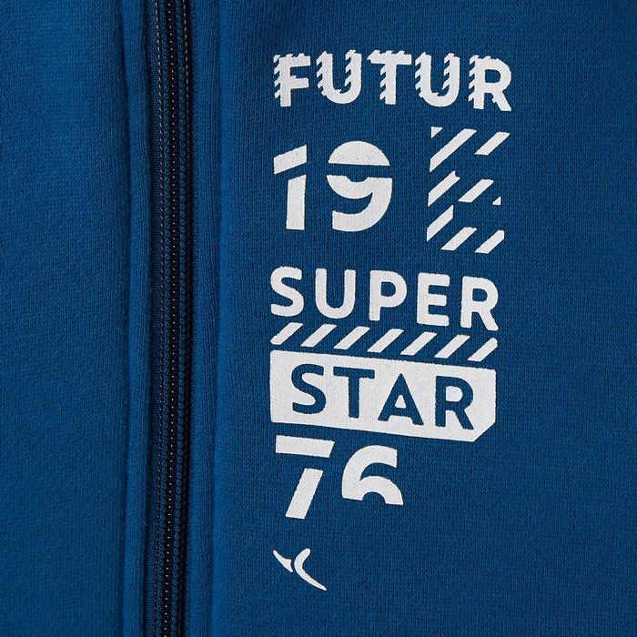 Trainingsanzug 100 Gym Warm'y Reißverschluss Baby blau bedruckt