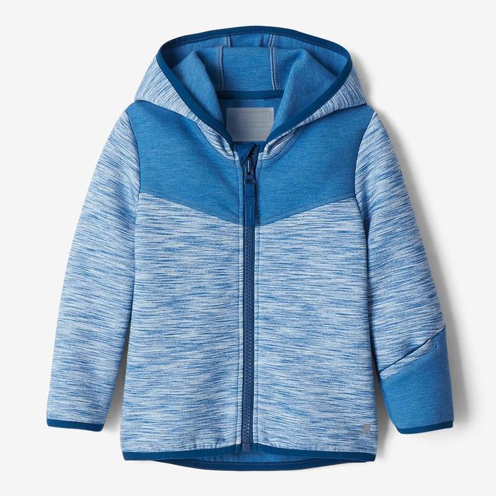 Veste spacer capuche 500 Baby Gym bleu - 1502826