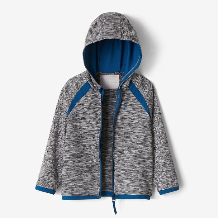 Vest S500 voor kleutergym donkergrijs/blauw