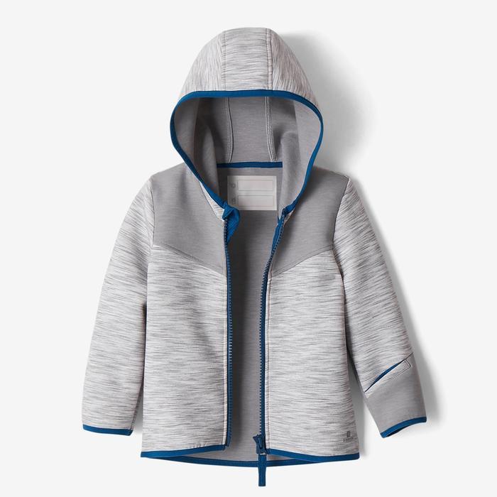 Kapuzenjacke Spacer 500 Gym Baby grau/blau
