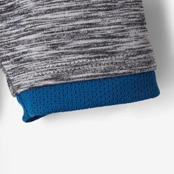 Chaqueta Gimnasia Infantil S500 Gris oscuro/Azul