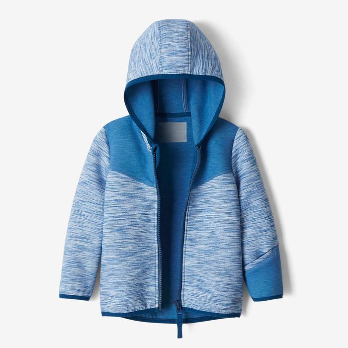 Veste spacer capuche 500 Baby Gym bleu - 1502855