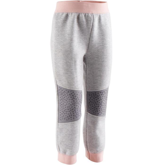 Jogginghose 500 Babyturnen grau/rosa