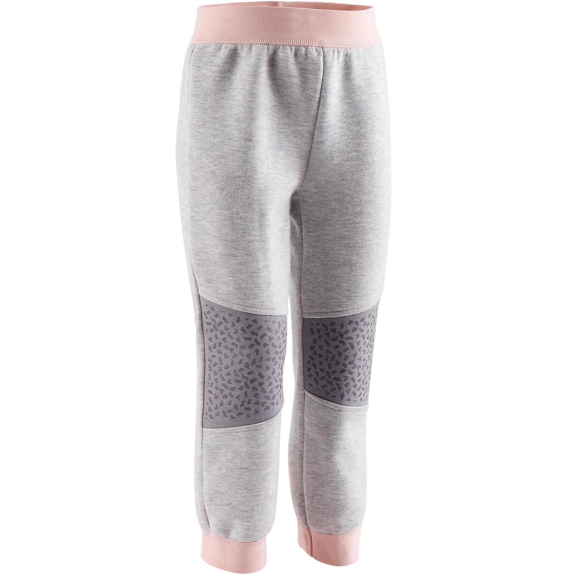 Pantalon baby gym 500 grisrose domyos