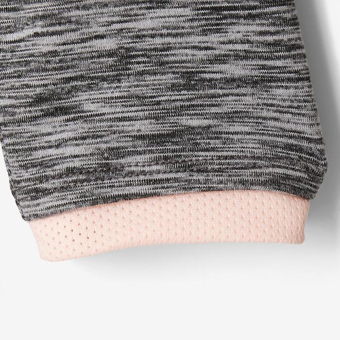 Vest met capuchon S500 voor kleutergym grijs roze