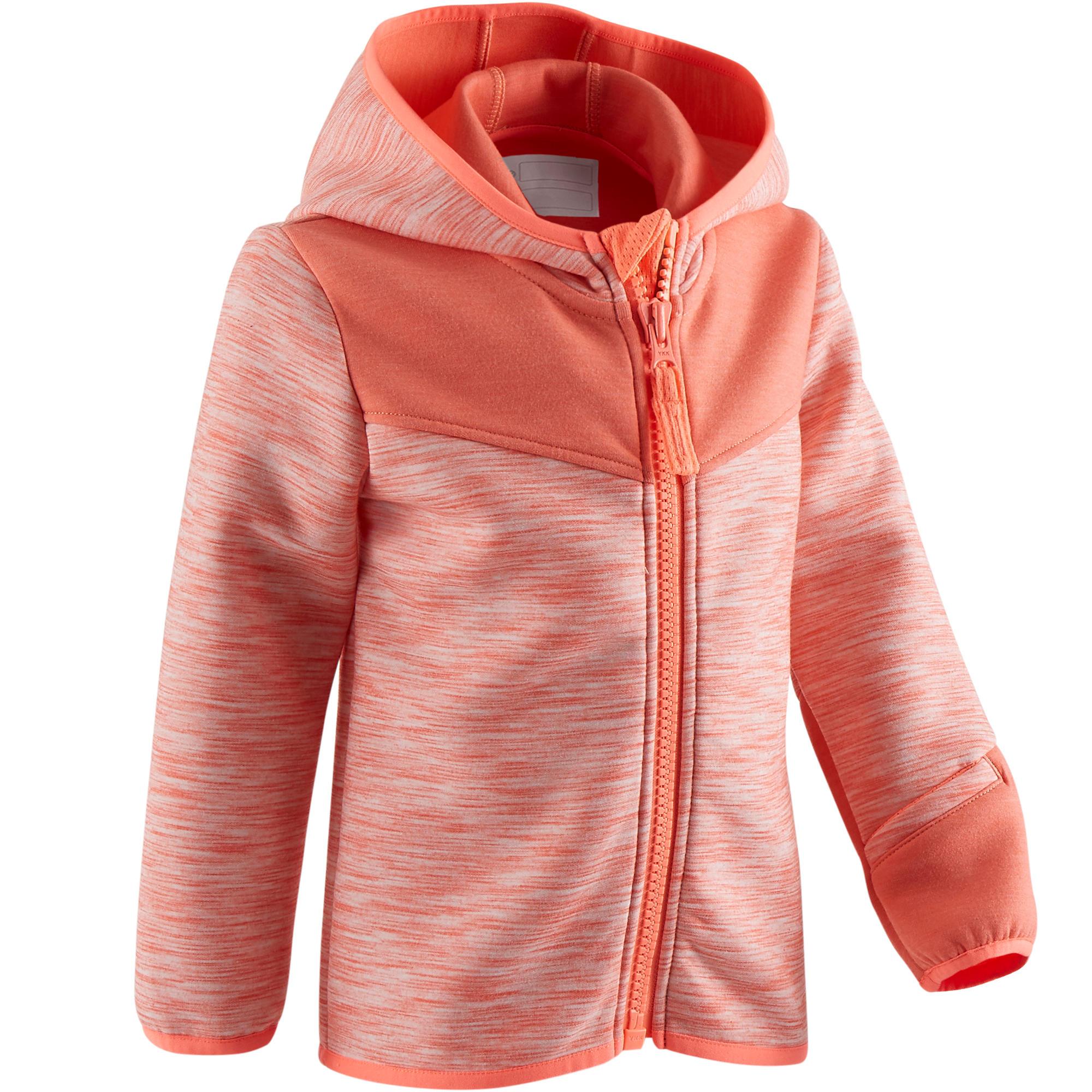 Baby,Kinder,Jungen,Kinder Trainingsjacke 500 Babyturnen koralle | 03608419188226