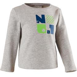 Sweater 100 voor kleutergym grijs met opdruk
