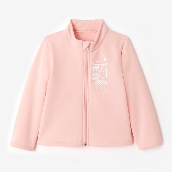 Trainingsanzug Warm'y Zip 100 Babyturnen rosa