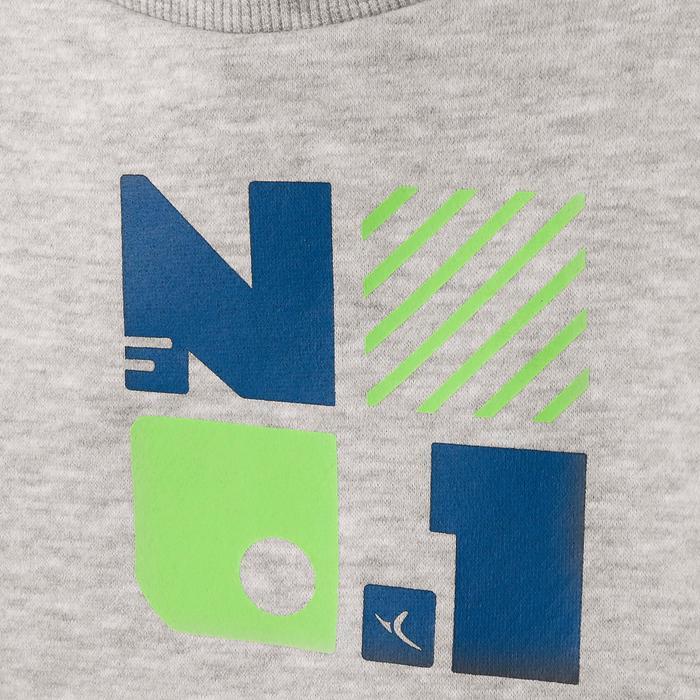 Sweater 100 voor kleutergym grijs met print